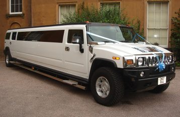 H2 White Hummer Limo hire West Midlands