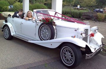 Beauford Tourer White Party Bus hire Birmingham