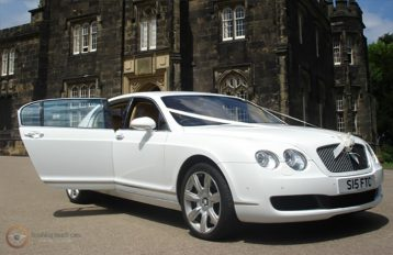 Bentley Flying Spur White Party Bus hire Birmingham